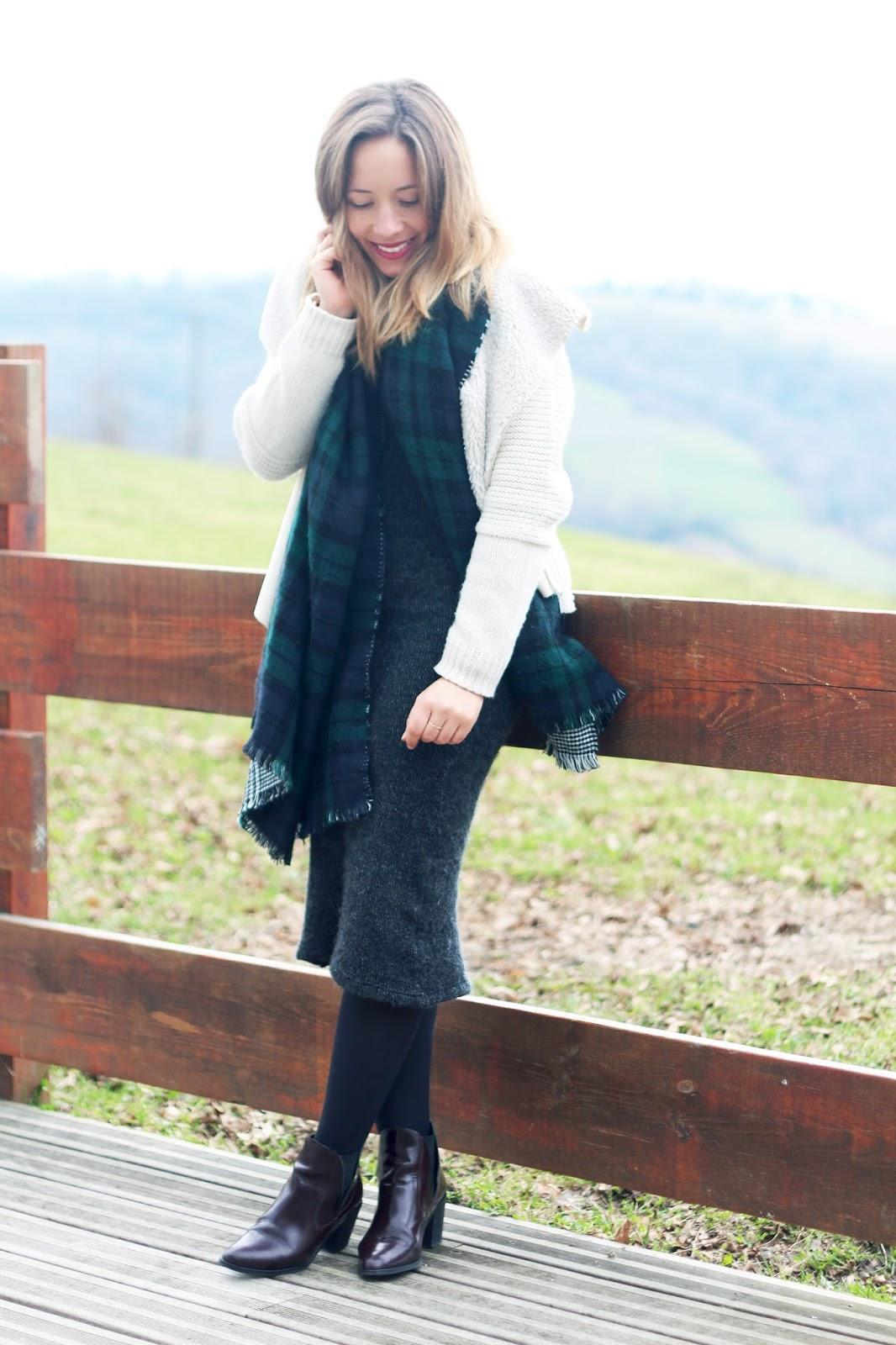 tenue hiver robe longue