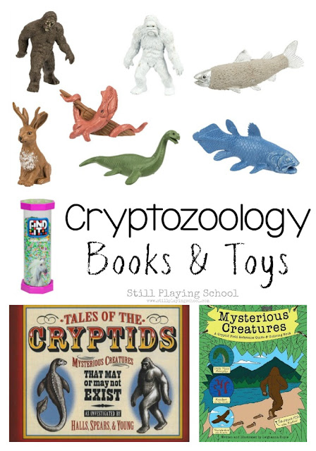 Cryptozoology and cryptid books, toys, and gifts for kids!
