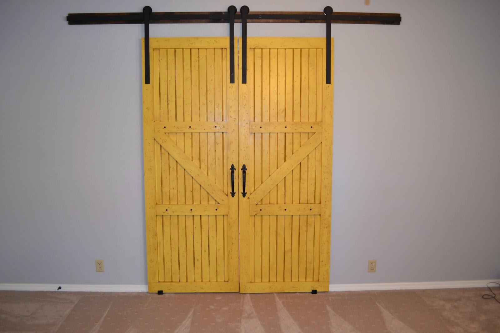 Diy Barn Style Bathroom Door: I Heart Decorating: DIY Double Barn Doors