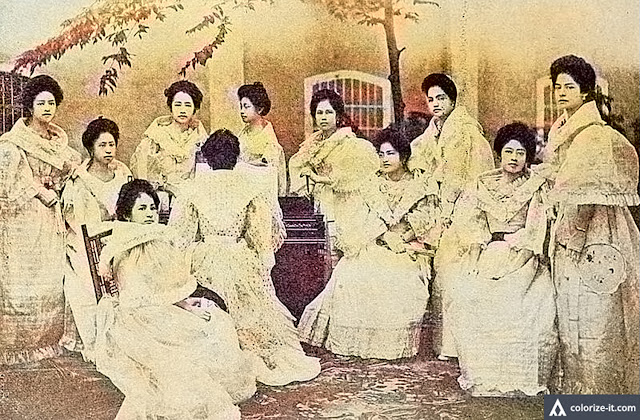 "Women of the Red Cross Society of Lipa, early 1900s.  Image source:  ""The Story of the Lopez Family: A Page from the History of the War in the Philippines."""