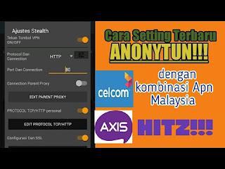 Aplikasi anonytun merupakan aplikasi gabungan antara aplikasi VPN dan aplikasi tunnel Cara Setting Anonytun Dengan Provider Axis