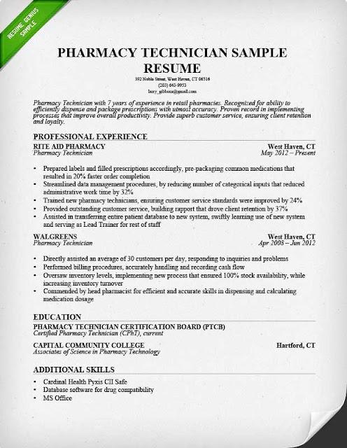 Sample of Pharmacy Technician Resume Sample Resumes - Walgreens Pharmacist Sample Resume