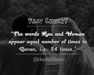Quran about women, the Quran's Facts, Interesting Facts About The Quran
