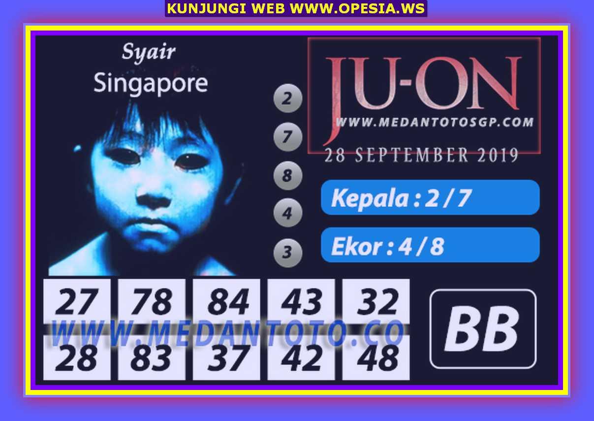 Syair sgp Sabtu 28 September 2019 61