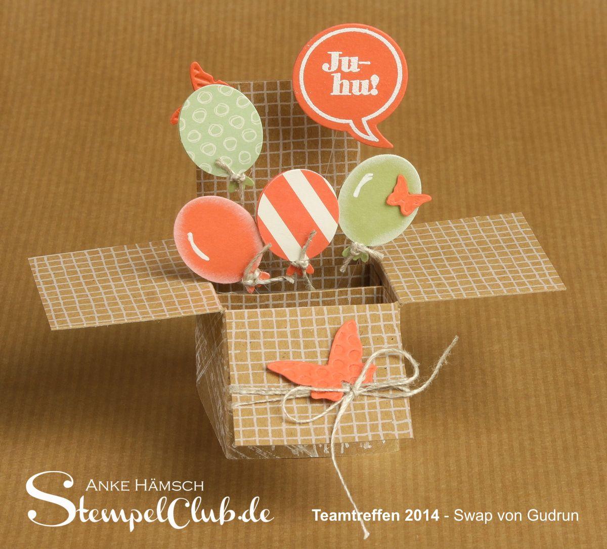 Popup-Karte, Luftballons, Stampin up