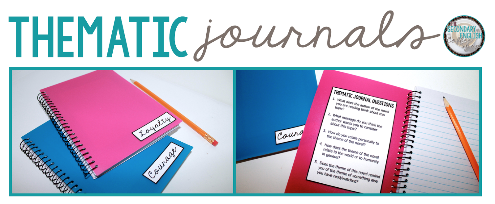 Teaching theme?  Use thematic journals to help your students discuss and analyze theme with their classmates, even if they aren't reading the same novel!