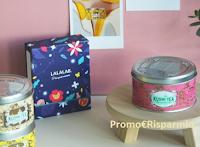 Logo Vinci gratis 3 miscele in fiore Kusmi Tea e un Biggie Box LALALAB