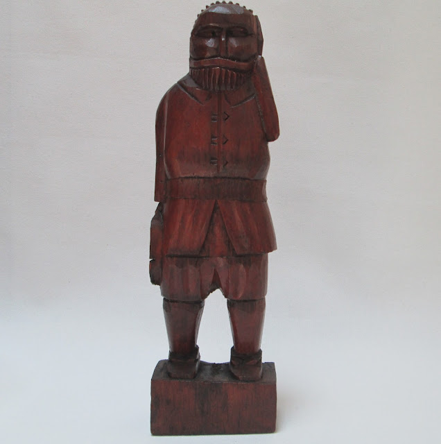 Mexican Folk Art Wood Carving of a Conquistador
