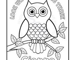 Christmas owl coloring page 8