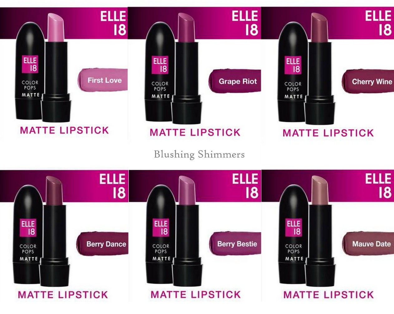 Elle 18 Color Pop Matte Lip Color purple