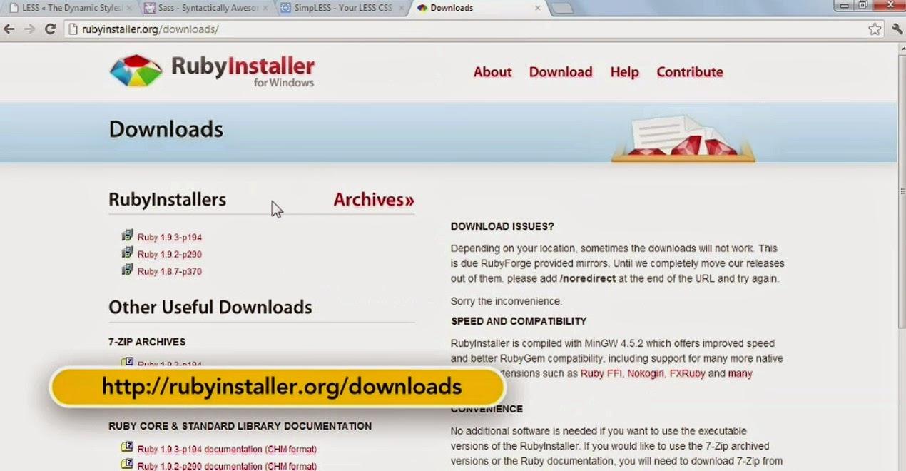 Installer Download: Ruby Installer Download