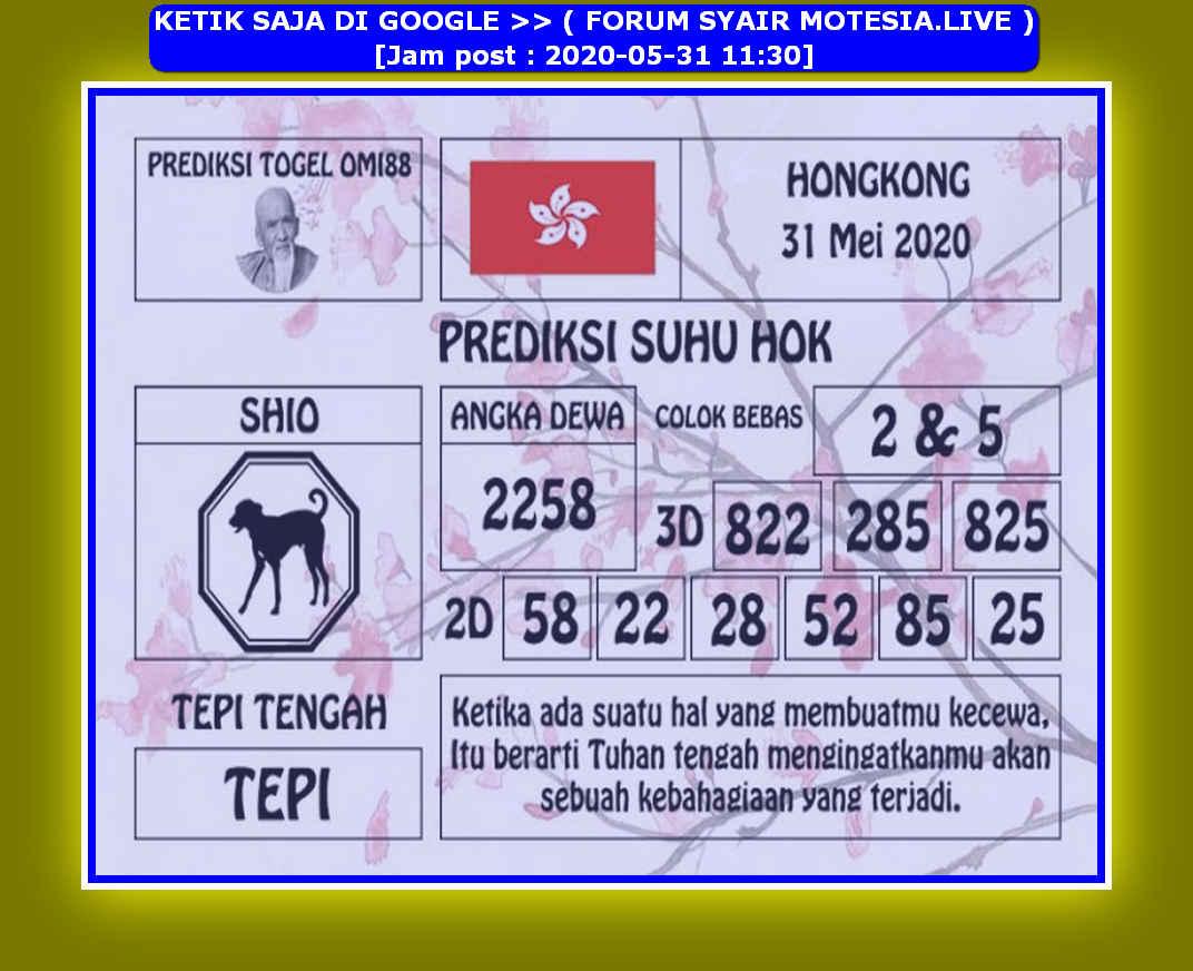Kode syair Hongkong Minggu 31 Mei 2020 227
