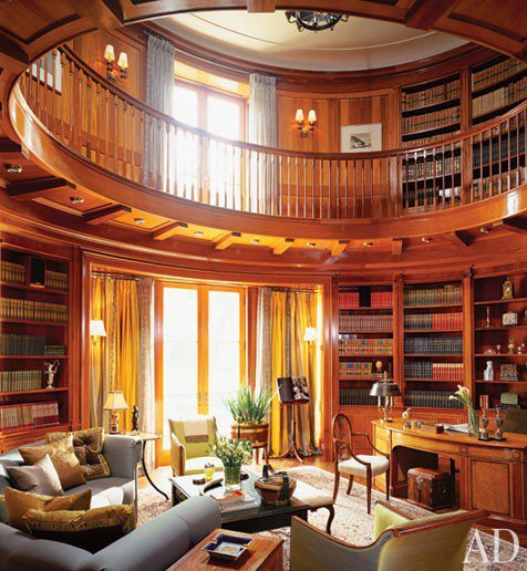 The gallery by purplebutterfly elegant woody office library - Building a home library ...