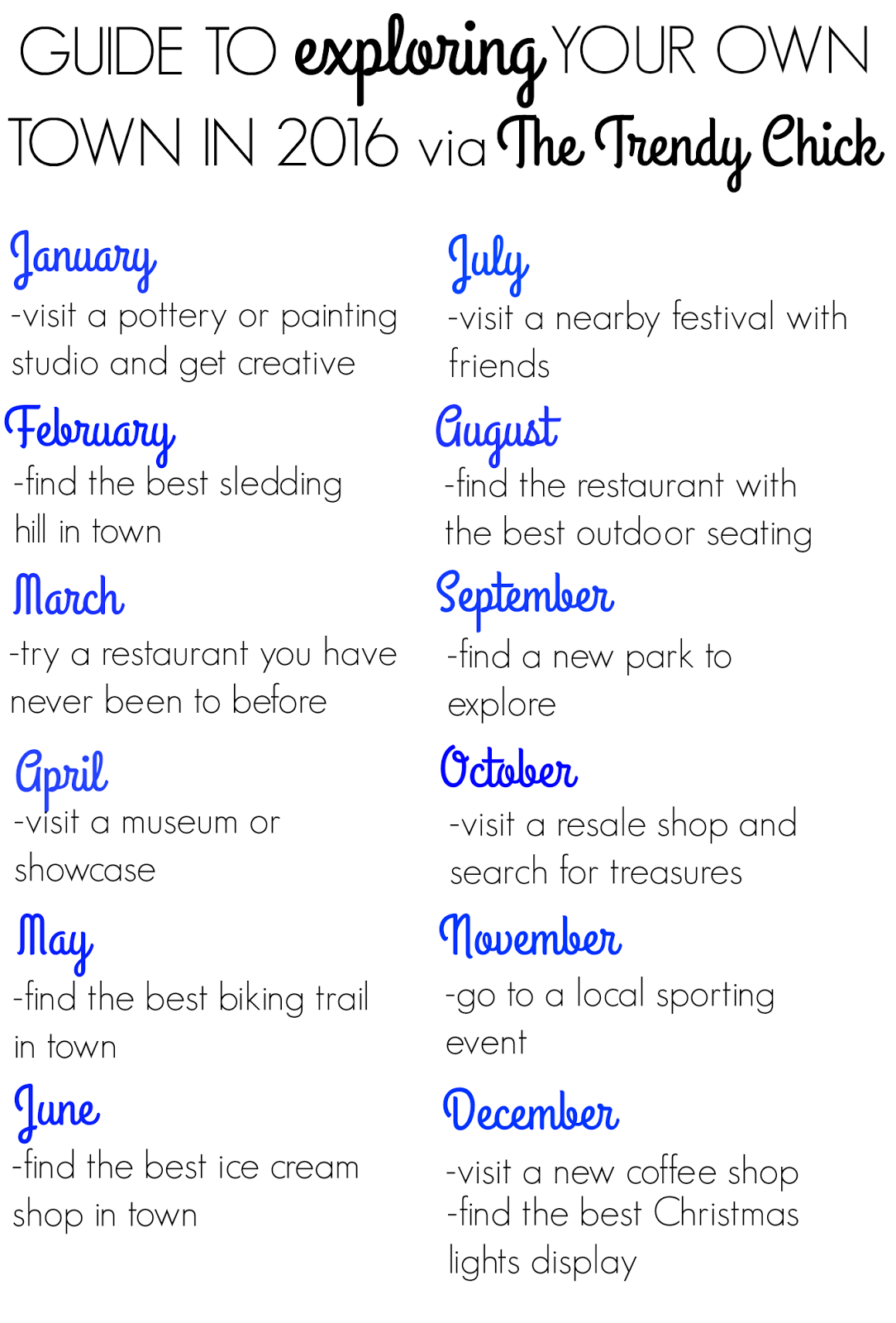 Guide To Exploring Your Town In 2016