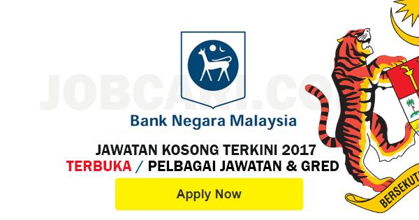Jawatan Kosong di Bank Negara Malaysia BNM 2017