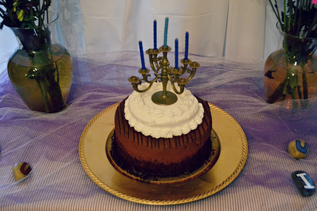 Mini Candelabra Cake Topper