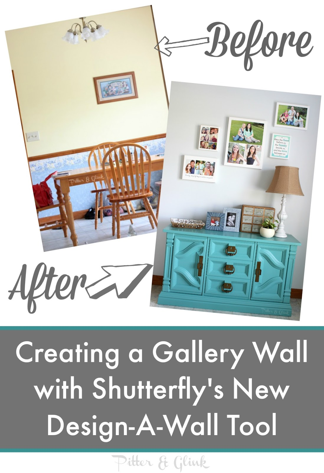 pitterandglink creating a gallery wall with shutterfly 39 s new design a wall tool. Black Bedroom Furniture Sets. Home Design Ideas
