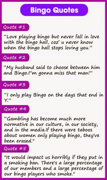 Top 5 Bingo Quotes Quotes And Sayings
