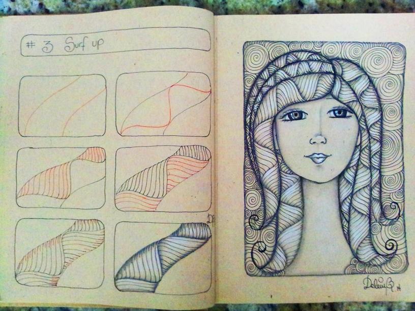 Dibujando Con Delein Como Hacer Una Libreta De Dibujo: Dibujando Con Delein: Como Dibujar Zentangle Art Paso A