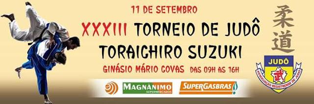 DOMINGO TEM TORNEIO DE JUDÔ TORAICHIRO SUZUKI NO GINÁSIO MÁRIO COVAS