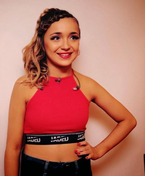 Lauren Platt JadedLDN red crop top   Live Shows Week 7   Dupe