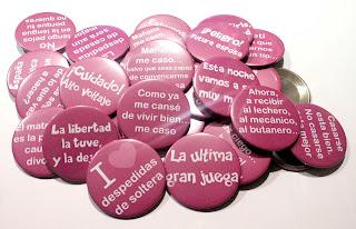 Chapas personalizadas de despedida de soltera para Sevilla