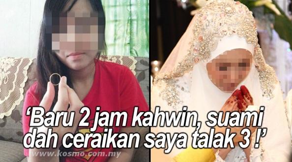 Baru 2 Jam Kahwin, Isteri Dah Buat Hal.. Suami Nekad Ceraikan Talak 3.. Ramai TERKEJUT Dengan Kesalahan Isteri Dia Ni !