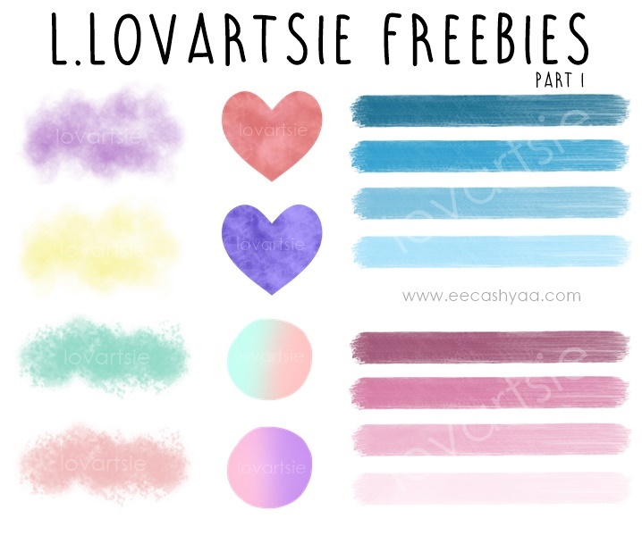 digital clipart brush stroke freebies