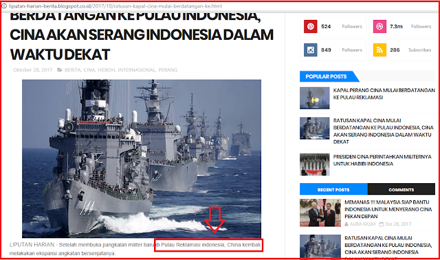 Hoax China Akan Serang Indonesia dalam Waktu Dekat