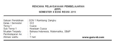 gambar Judul rpp k13 kelas 3 revisi 2019 semester 2