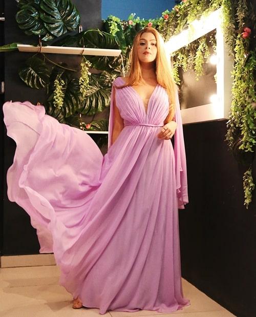 vestido lavanda para madrinha de casamento
