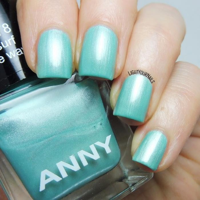 Smalto azzurro acquamarina Anny Surf the Wave aqua blue nail polish #nails #anny #unghie #annycosmetics #douglas #lightyournails