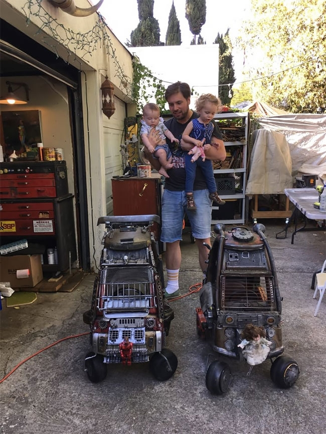 13-Ian-Pfaff-Little-Tikes-Cozy-Coupe-Infused-with-Mad-Max-www-designstack-co