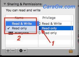 Mengatur atau ganti Permission File macOS