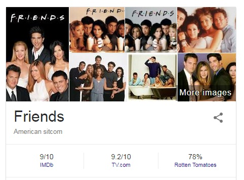 Friends is an American television sitcom