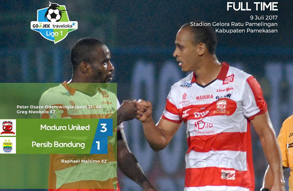 Dua Gol Dianulir, Persib Bandung Takluk Dikandang Madura United
