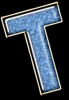 Abecedario en Mármol Celeste. Light Blue Marbel Alphabet.