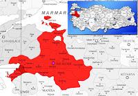 Burhaniye ilçesinin nerede olduğunu gösteren harita