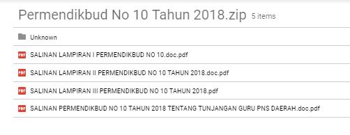 DOWNLOAD SALINAN PERMENDIKBUD NO 10 TAHUN 2018 TENTANG TUNJANGAN GURU PNS DAERAH