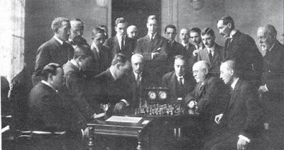 Ajedrecistas participantes en el Torneo Nacional de Zaragoza 1919