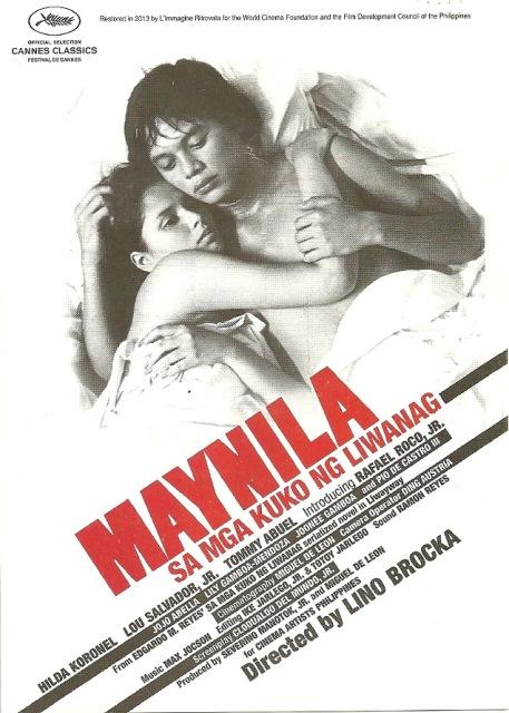 Maynila Sa Mga Kuko Ng Liwanag Cannes Movie Poster