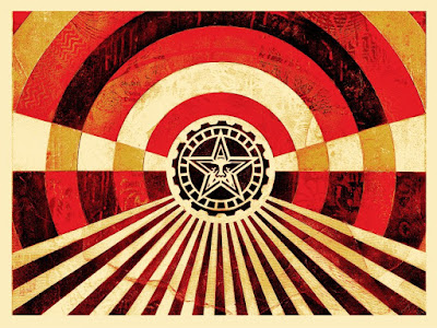 "Obey Giant ""Tunnel Vision"" Gold Edition Screen Print by Shepard Fairey"
