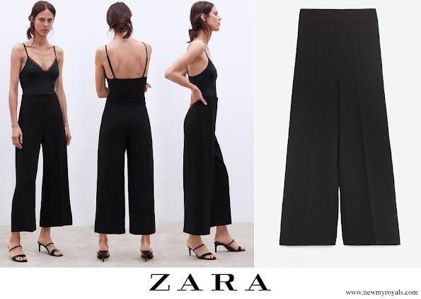 Kate Middleton wore Zara high-waist wide leg trousers