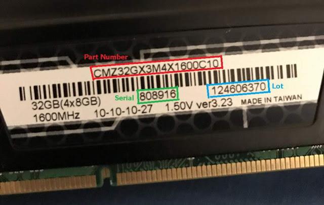 Nomor Seri RAM
