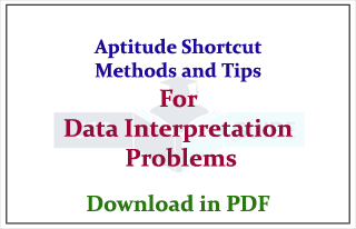 Aptitude Shortcuts Method and Tips for Data Interpretation Problems
