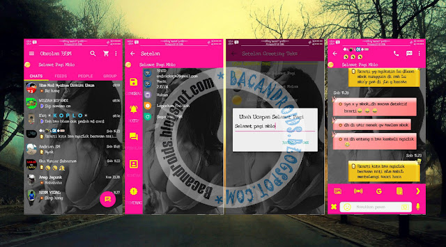 download BBM Mod Versi 2.13.1.14 Tema Pink Kemod Suport Transparent