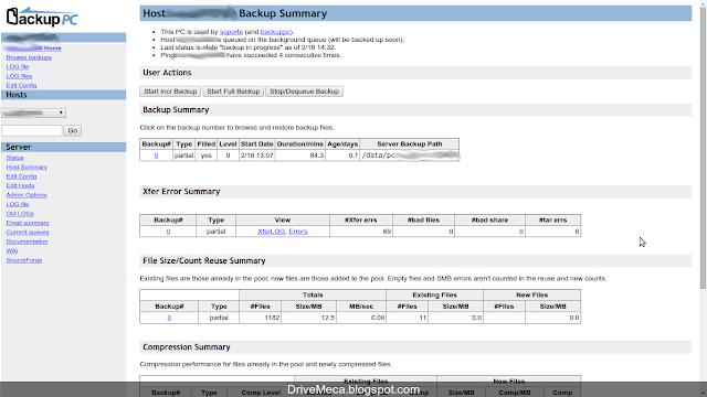 DriveMeca configurando un cliente BackupPC en Linux Centos