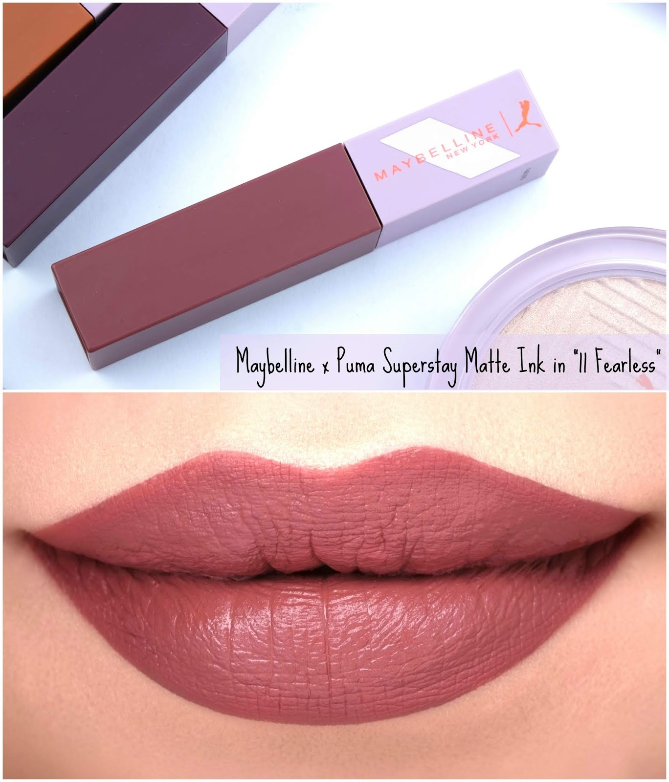 "Maybelline | Maybelline x Puma Superstay Matte Ink in ""11 Fearless"": Review and Swatches"
