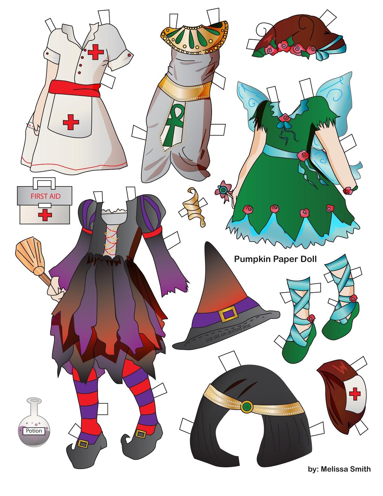 Miss Missy Paper Dolls Pumpkin Paper Doll Page 2