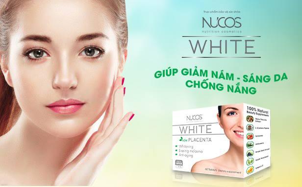 Điều trị tàn nhang kết hợp với viên uống trị nám Nucos White Placenta